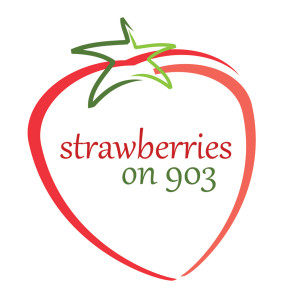 Strawberries on 903 Farm Logo Design