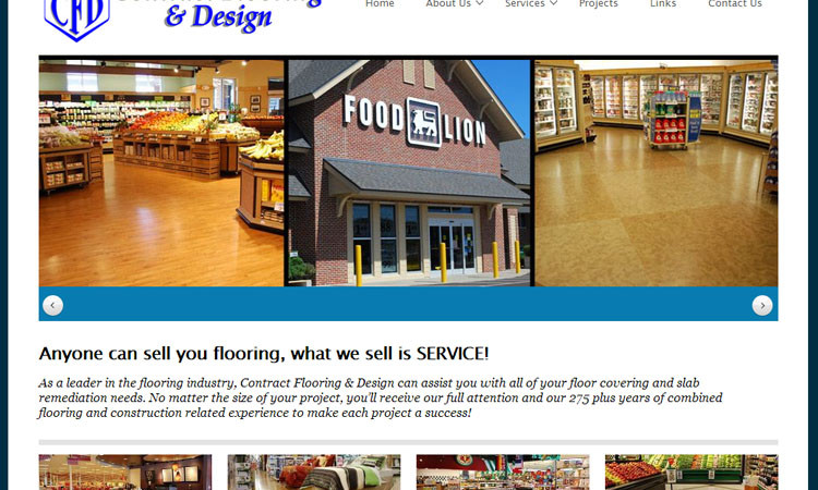 Contract Flooring & Design Business Website Design