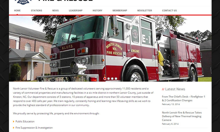 North Lenoir Fire Rescue Website Design