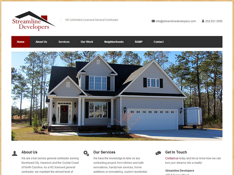 streamlinedeveloperscontractorwebsitedesignlogodesign